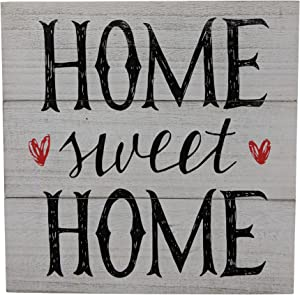 Gianna's Home Rustic Farmhouse Distressed Wood Plank Board Sign (Home Sweet Home)