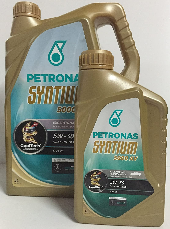 Petronas Syntium 5000 Av 5 W 30 Oil Motor 6 Lts Lt 5 1 X 1 L Auto