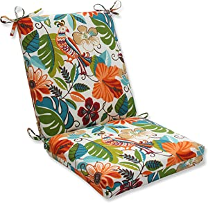 "Pillow Perfect Outdoor/Indoor Lensing Jungle Square Corner Chair Cushion, 36.5"" x 18"", Off-White"