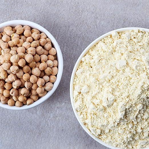 nu3 Harina de Garbanzo Orgánica - 400 gramos - 100% ecológica & libre de gluten - Rica fuente de proteínas y fibra vegetal - Alternativa con menos ...