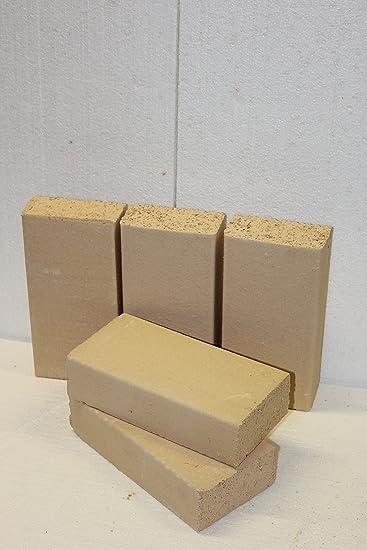 Placas de arcilla, horno chamotte, prämium Calidad 250 x 124 x 64 ...