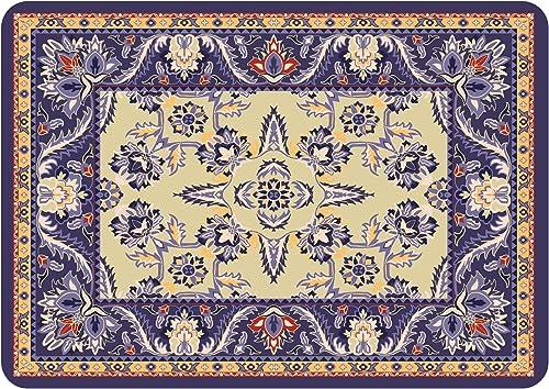 Bungalow Flooring Premium Comfort Floor Mat, 22 by 31-Inch, Siam, Navy