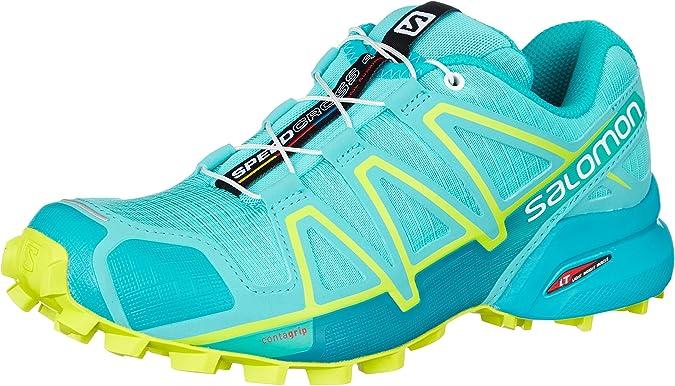 Salomon Speedcross 4 W, Zapatillas de Trail Running para Mujer, Azul (Azule Curacao/Azulebird/Acid Lime 000), 36 EU: Amazon.es: Zapatos y complementos