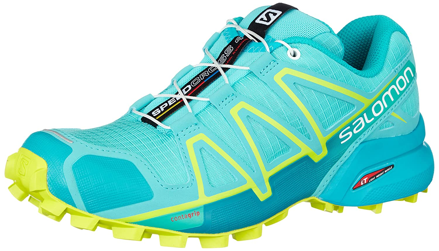 Amazon.com | Salomon Speedcross 4 Trail Running Shoe - Womens, Blue Curacao/Bluebird/Acid Lime, 5, L40124700-5 | Trail Running