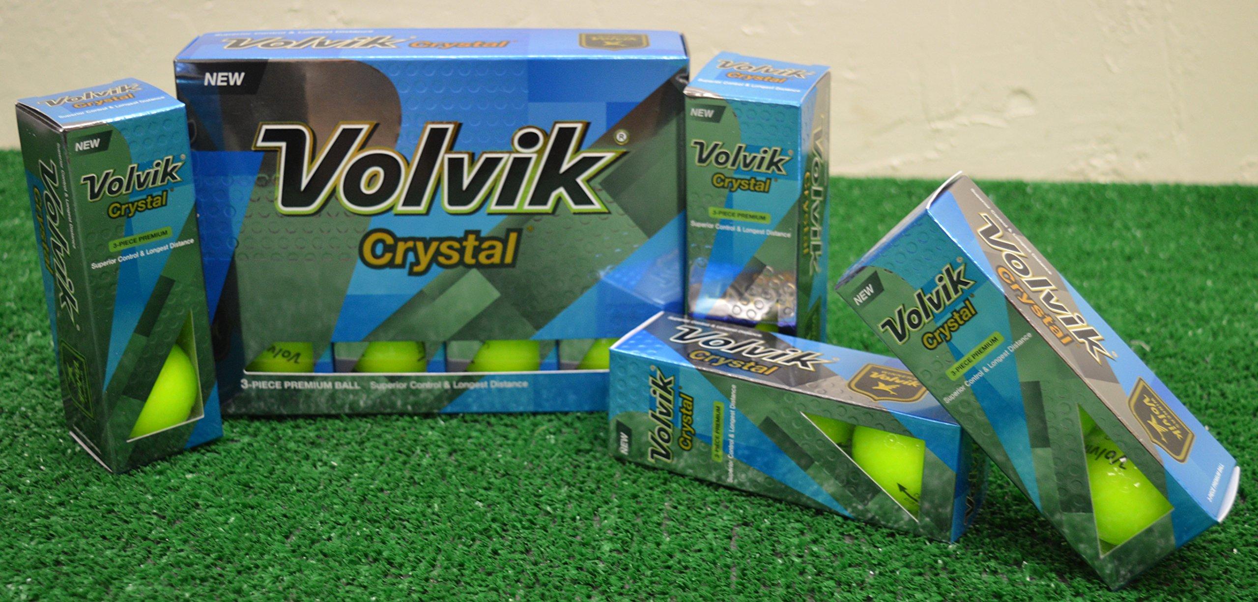 3 Dozen 2016 Volvik Crystal Green Golf Balls - New in Box