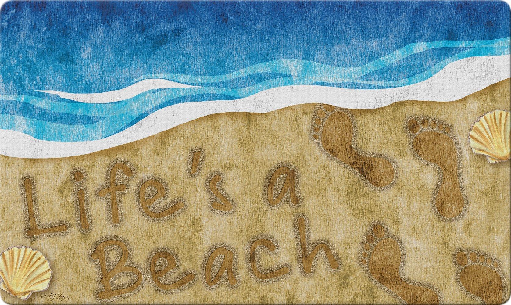 Toland Home Garden 800444 Beachy Life Doormat, Multicolor