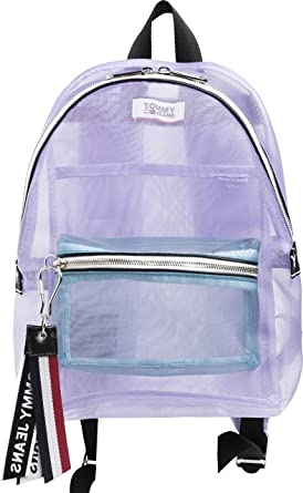 47ba56b5 Tommy Jeans Logo Tape Mini Mesh Womens Backpack One Size Pastel Lilac