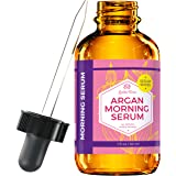 Argan Morning Serum by Leven Rose - 100% Pure, Organic, Natural - Brightens Complexion, Naturally Stimulates Collagen & Elastin, Reduces Fine Lines & Wrinkles - 1 oz