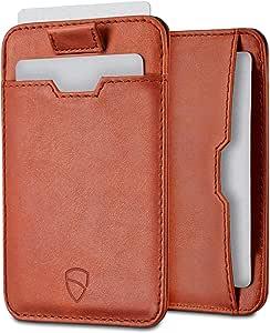 Vaultskin Chelsea ultra-slim leather card-protecting RFID wallet (Cognac)