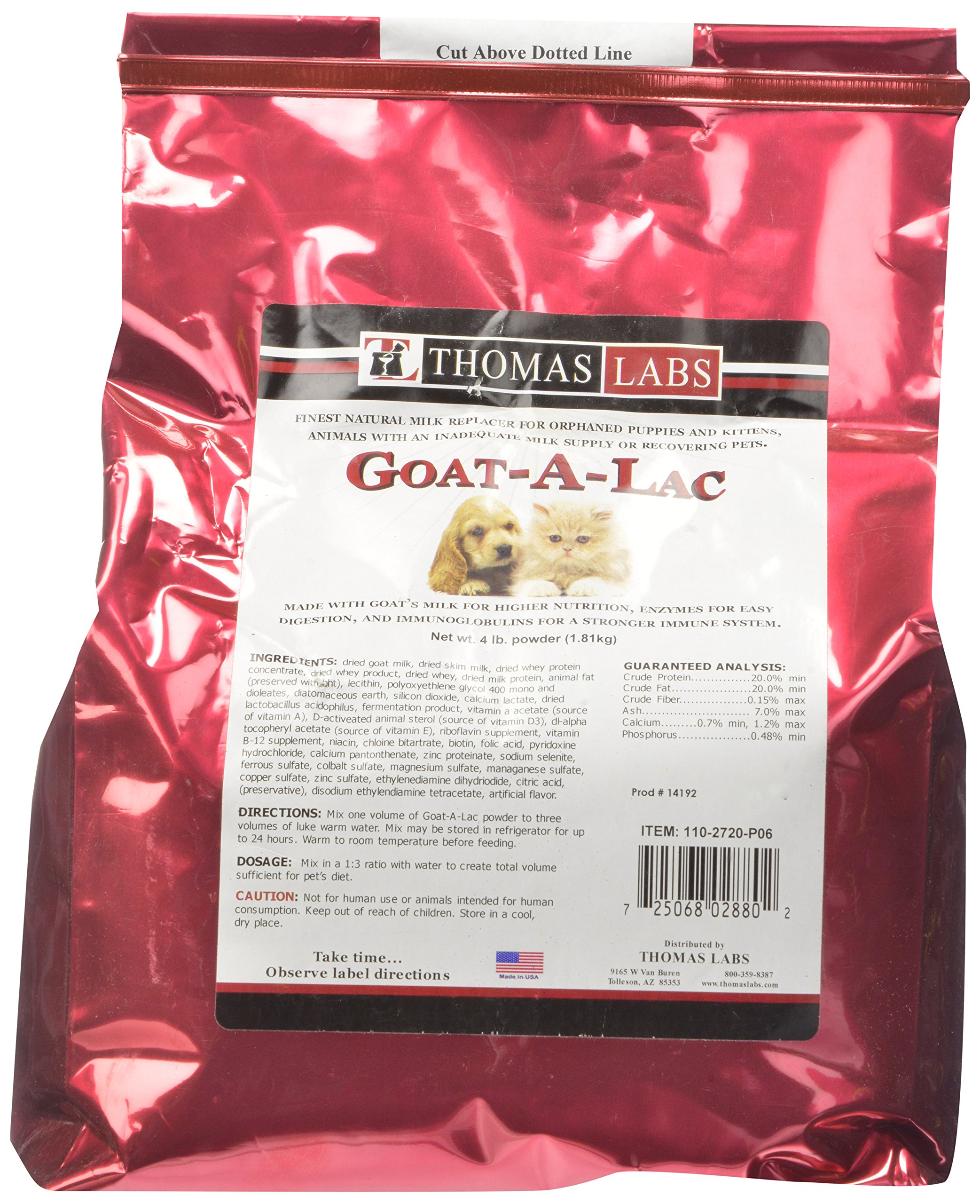 Thomas Laboratories Goat-A-Lac Supplement Powder for Pets 4-Pound