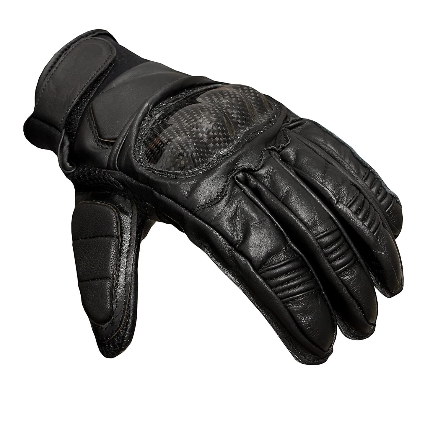 HAWK Premium Leather Motorcycle Motorbike Gloves Cow Hide Leather Genuine Leather 100/%