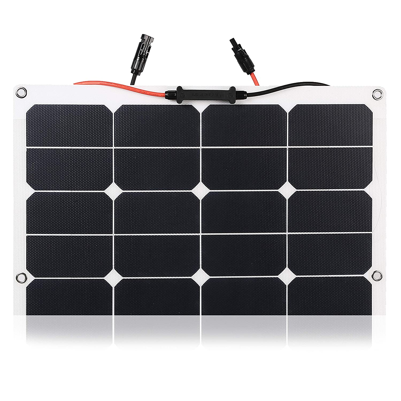 Caricabatteria a pannello solare flessibile flessibile ETFE durevole di Kingsolar 100W per auto roulotte ecc barca