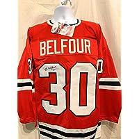 $99 » Ed Belfour Chicago Blackhawks Signed Autograph Custom Jersey Red JSA Certified