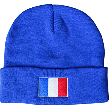 f43a484a2a6 Image Unavailable. Image not available for. Colour  Men s France Blue  Thermal Sports Beanie Hat