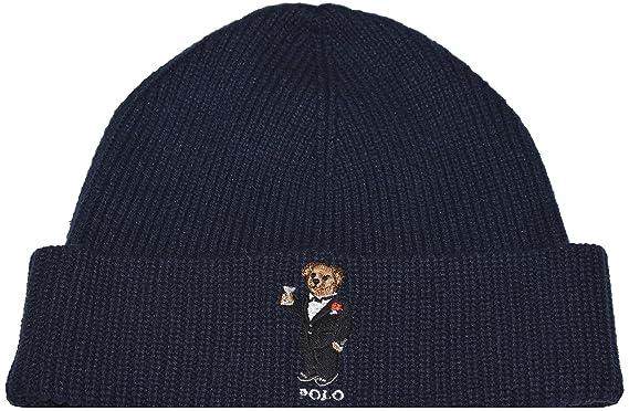 012ff716 RALPH LAUREN Polo Men's Polo Bear Hat Skull Cap (One Size, Black) at Amazon  Men's Clothing store:
