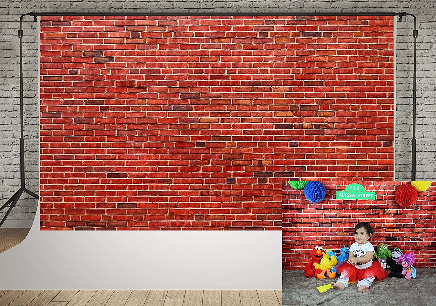 7x5ft Vintage Red Brick Wall Photo Backdrop Newborn Baby Girls Adults Portrait Photography Background Wallpaper Photo Studio Props