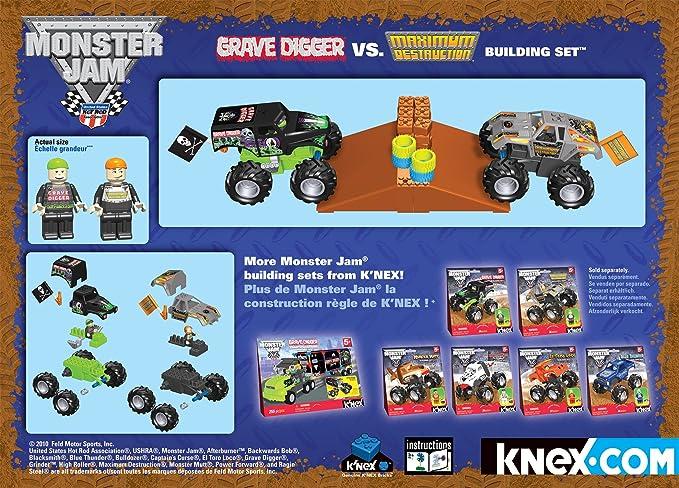 Amazon Knex Monster Jam Grave Digger Versus Maximum