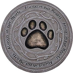 "Fancy Gardens ""Always in Our Hearts Pet Memorial Stone"