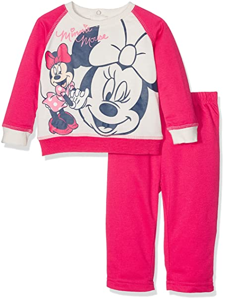 Disney Baby Minnie Maus Jogginganzug (67cm (6 Monate) Pink
