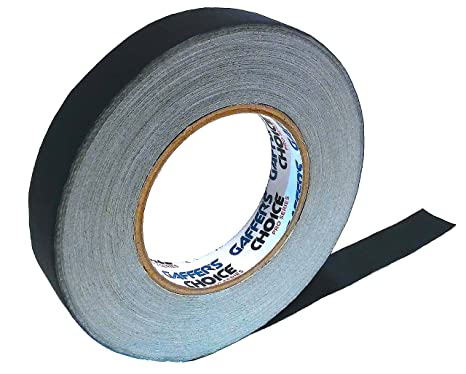 b7cc0ef9d391b Gaffer Tape 1 inch x 60 Yard Black by GAFFER'S CHOICE - Adhesive is Safer  Than Duct Tape - Waterproof & Non-Reflective Multipurpose Spike Tape