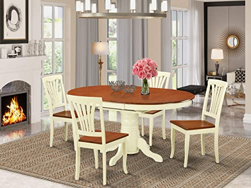 East West Furniture dining room table set 4 Amazing wooden Chair