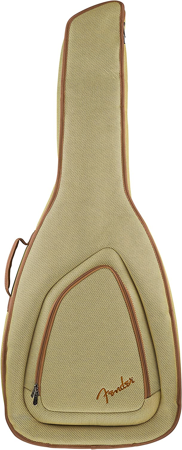 Fender FAT-610 - Bolsa de transporte para guitarra acústica estilo Dreadnought (tweed, 991532255)