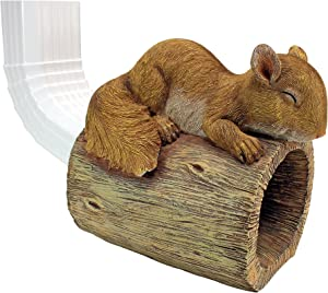 Design Toscano QM13073 Jolly The Squirrel Gutter Guardian Downspout Statue,Full Color