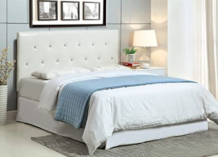 Furniture Of America Quinn Padded Leatherette Conversion Mounting  Headboard, White Finish