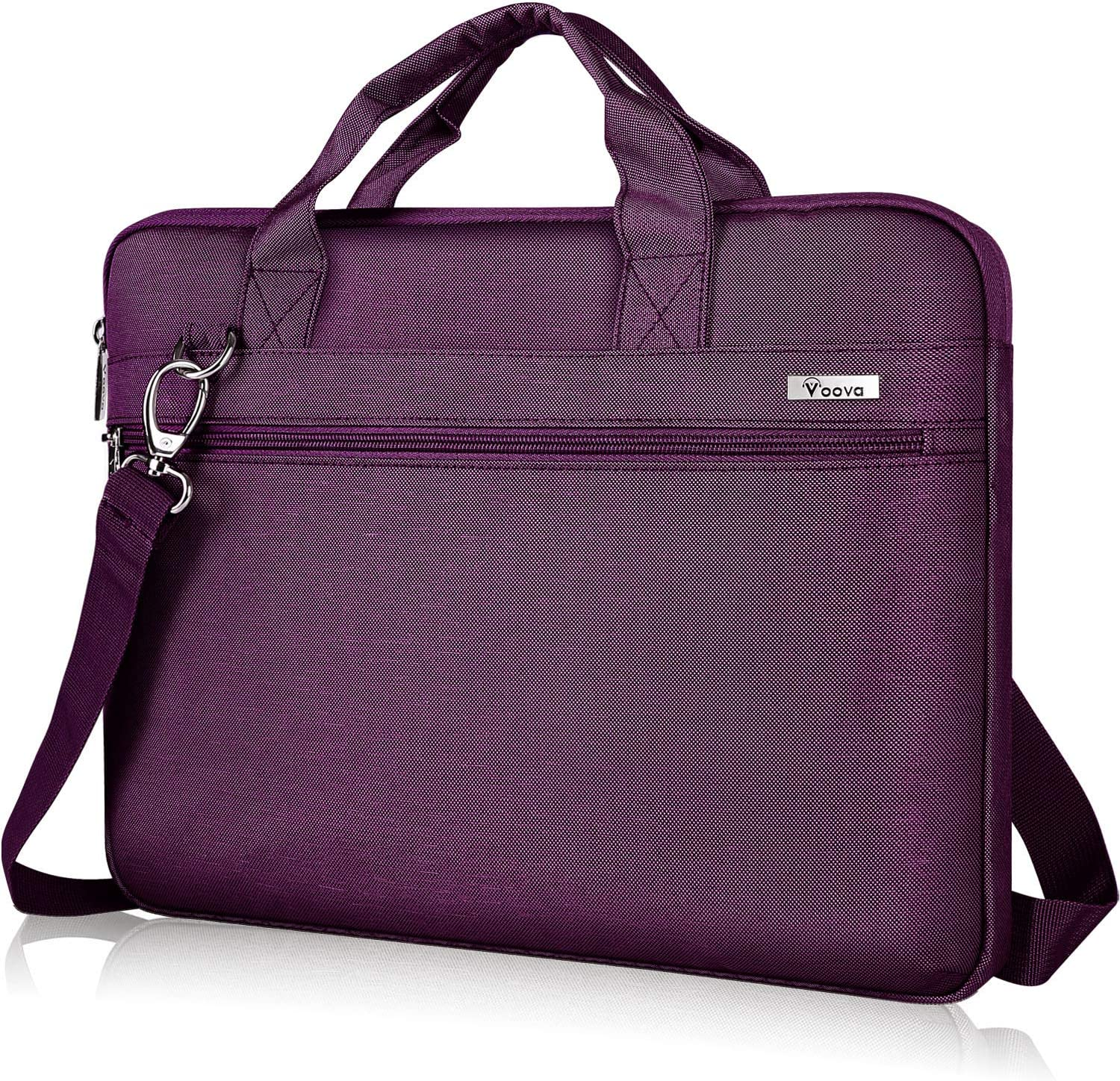 Voova 13 13.3 Inch Laptop Sleeve Case Bag Compatible with Macbook Air/Pro 13, 13.5 Surface Laptop/Book 4 3 2, Hp Dell Xps 13 Chromebook,Upgrade Protective Computer Carrying Briefcase with Strap,Purple