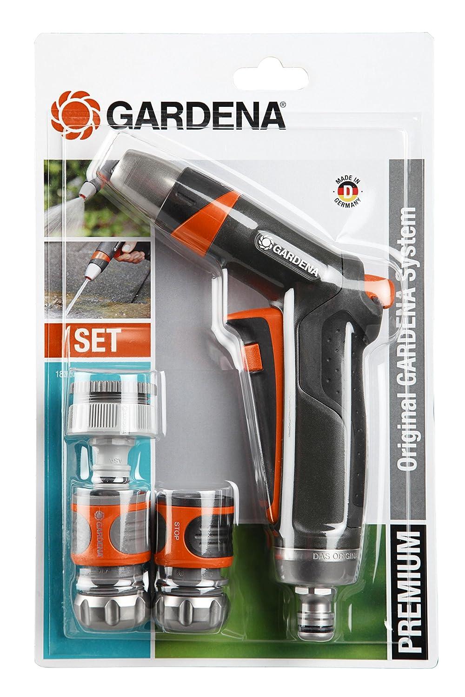 Gardena 18297-20 Set Base Premium, Contenuto  18202 5305, 8166, 8168, 18305 Irrigazione, Blu Nero Arancione, 28.5x18x4 cm