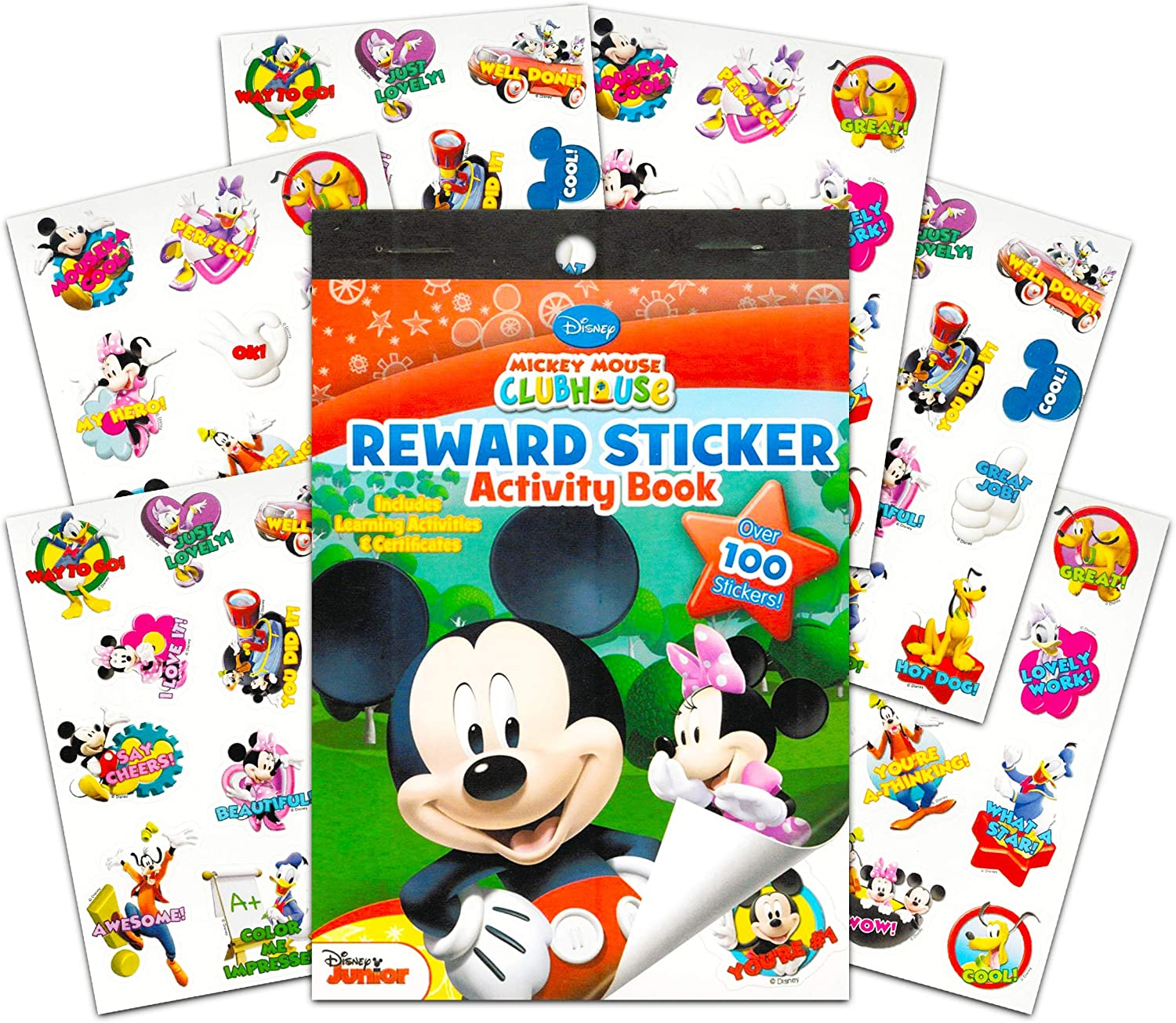 Bendon Publishing Mickey Mouse Sticker Party Favors Packs ~ 6 Mini Sticker Activity Books with Coloring Pages Puzzles Mazes and Over 100 Stickers Party Supplies