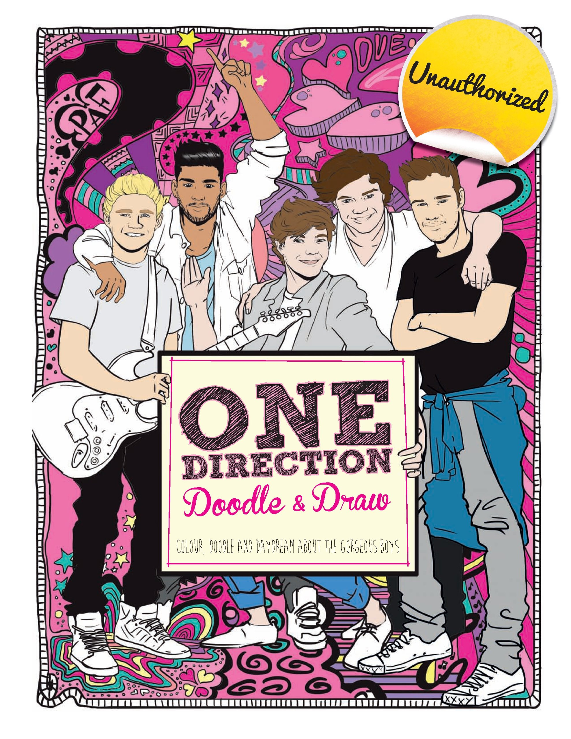 Amazon Com One Direction Doodles Color Doodle And Daydream About The Gorgeous Boys 9781438005850 Sipi Claire Books
