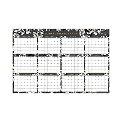 Blue Sky 2020 Calendario de pared borrable laminado, enero ...