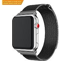 YaYuu Cinturino Apple Watch 38mm/42mm,con Unico Magnete di Blocco, Apple Watch Band Strap Orologio in Acciaio Inossidabile Cinghia Banda Bracciale Milanese per Apple Watch Serie 1 2 3 4