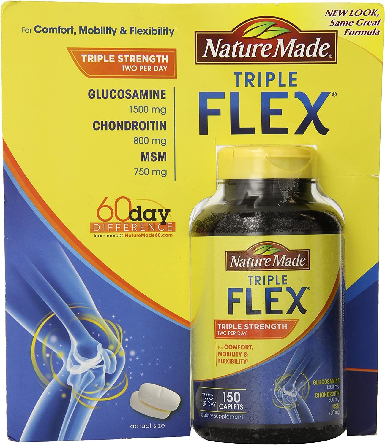 Nature Made TripleFlex Triple Strength 150 Caplets