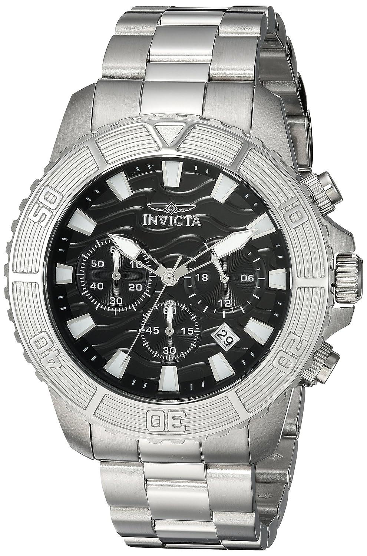 Amazon.com: Invicta Men's 'Pro Diver' Quartz Stainless Steel Casual Watch,  Color:Silver-Toned (Model: 23998): Invicta: Watches