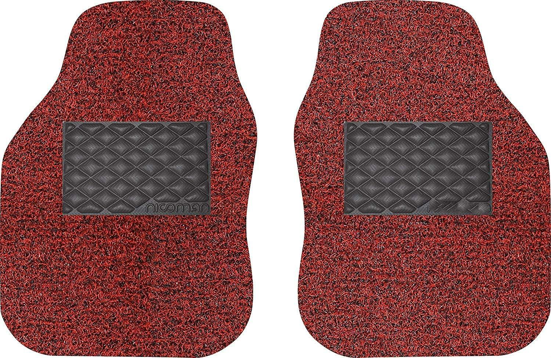 ,Opt7-GREY,Opt4 Car Mats Heavy Duty Universal Spaghetti Coiled PVC Vinyl Loop Gecko Backing Anti-Slip Universal Car Floor Mat Full Set 4-Piece Black /& Grey, Right Side 1pc