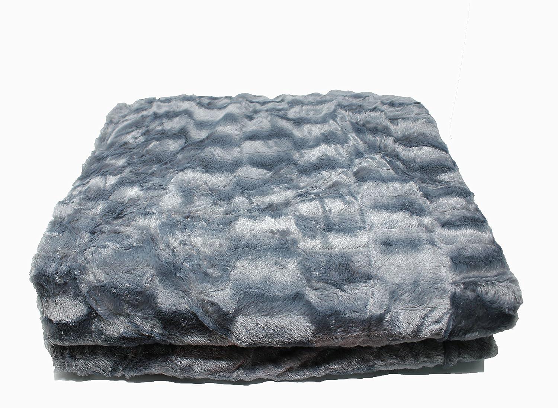 Luxury double-woven throw blanket double side soft microfiber, 240cm*180cm (Dark Brown) Stumix