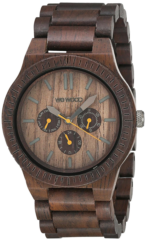 Wewood Herren-Armbanduhr Kappa Analog Quarz (One Size - braun)