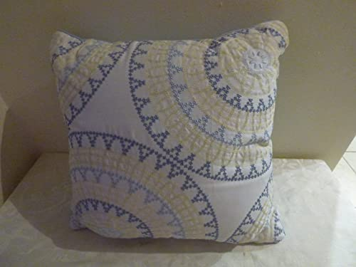 Style Co. Windfield Collection, 16 Square Decorative Pillow, Blue