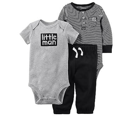e3f035f544c5 Amazon.com  Carter s Baby Boys  3-Pc. Little Man Bodysuit and Pants ...