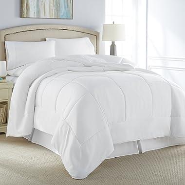 Danjor Linens Luxury Soft All Season White Down Alternative Comforter- Hypoallergenic, Box Stitched- Plush Microfiber Fill, Machine Washable, Duvet Insert Queen Size