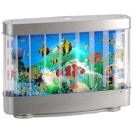 Lámpara LED de niños Acuario Efecto de peces – Lámpara LED de estado de ánimo lámpara