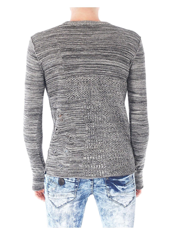 74fcfbc9112 Amazon.com  Project X Paris Distressed Lightweight Sweater 88167703 Black   Clothing