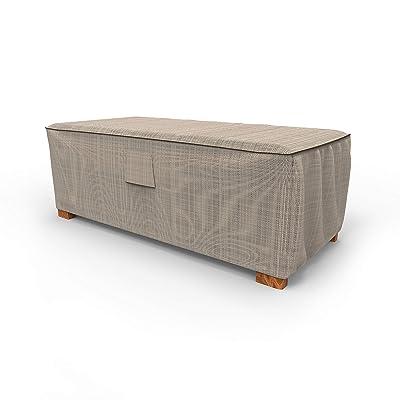 EmpirePatio Tan Tweed Slim Patio Ottoman Cover/Coffee Table Cover, Large: Garden & Outdoor