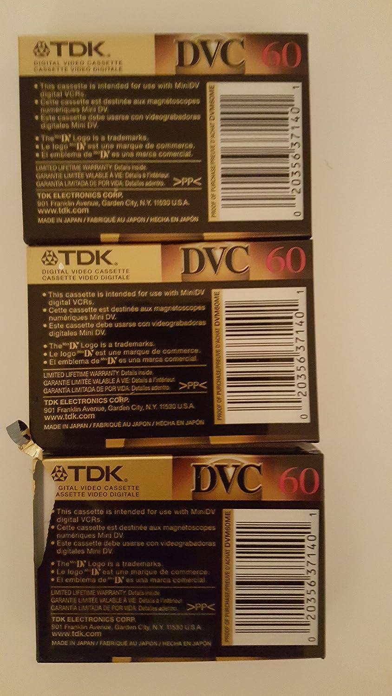 3 Pack Cassettes TDK Mini Digital Video Cassette
