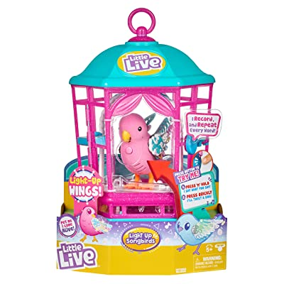 Little Live Pets Bird with Cage - Rainbow Glow - Styles May Vary: Toys & Games
