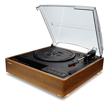 Charmant Toshiba TY LP30T Vinyl Record Player Turntable: 7.7u201d 3 Speed Bluetooth  Turntables