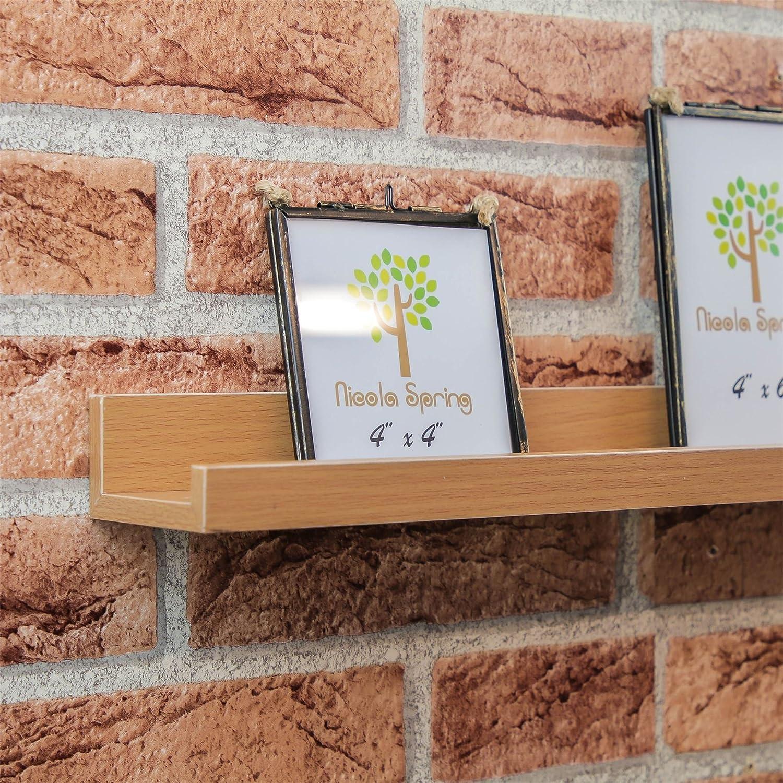 Bianco 3 Pezzi Harbour Housewares Mensola portafoto a Scomparsa in Legno 56 cm