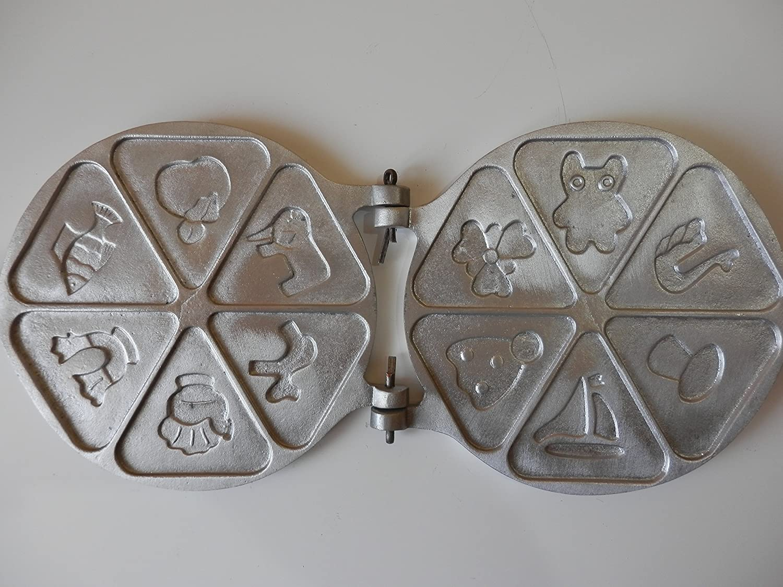 petristor Cracker 6 galletas marcador de aluminio ruso de repostería galletas Repostería herramienta para hornear/Molde/molde Set: Amazon.es: Hogar